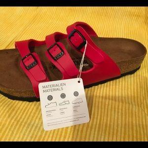 Birkenstock Shoes - Ladies Birkenstock size 9 Florid red sandals